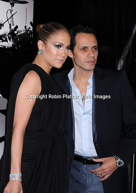 """Jennifer Lopez and husband Marc Anthony.posing for photographers at The """"Shine A Light"""" movie premiere on March 30, 2008 atThe Ziegfeld Theatre. .Martin Scorsese directed the movie. .Robin Platzer, Twin Images"""