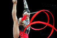 Olena Dmytrash of Ukraine performs at 2010 World Cup at Portimao, Portugal on March 13, 2010.  (Photo by Tom Theobald).