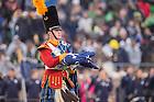 Nov. 22, 2014; Irish Guard flag presentation at Notre Dame Stadium. (Photo by Matt Cashore)