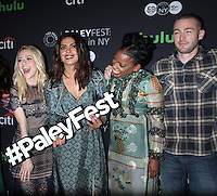 NEW YORK, NY-October 17: Johanna Braddy,Priyanka Chopra, Aunjanue Ellis, Jake McLaughlin, at PaleyFest New York presents Quantico at the Paley Center for Media in New York.October 17, 2016. Credit:RW/MediaPunch