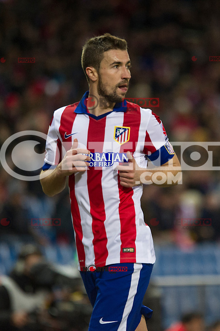 Atletico de Madrid&acute;s Gabi during 2014-15 La Liga match between Atletico de Madrid and Rayo Vallecano at Vicente Calderon stadium in Madrid, Spain. January 24, 2015. (ALTERPHOTOS/Luis Fernandez) /NortePhoto<br />