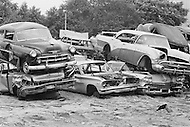 September 1967 --- An auto graveyard in New York City. --- Image by © JP Laffont/Sygma/CORBIS