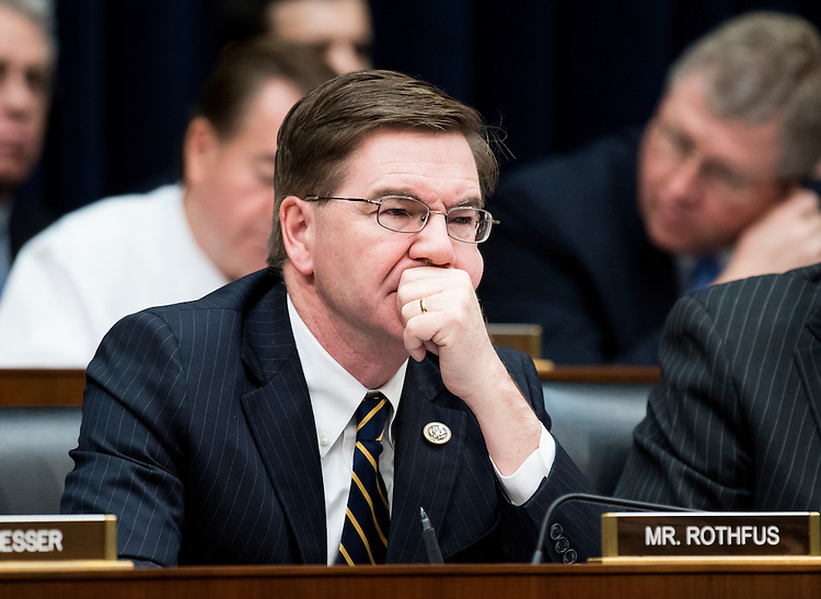 UNITED STATES - FEBRUARY 2: Rep. Keith Rothfus, R-Pa., participates in the House Financial Services Committee meeting to organize for the 115th Congress on Thursday, Feb. 2, 2017. (Photo By Bill Clark/CQ Roll Call)