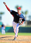 6 March 2010: Washington Nationals' pitcher Andrew Kown in action during a Spring Training game against the New York Mets at Space Coast Stadium in Viera, Florida. The Mets defeated the Nationals 14-6 in Grapefruit League action. Mandatory Credit: Ed Wolfstein Photo