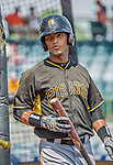 22 March 2015: Pittsburgh Pirates catcher Tomas Morales awaits his turn in the batting cage prior to a Spring Training game against the Houston Astros at Osceola County Stadium in Kissimmee, Florida. The Astros defeated the Pirates 14-2 in Grapefruit League play. Mandatory Credit: Ed Wolfstein Photo *** RAW (NEF) Image File Available ***