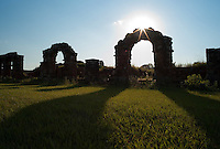 Evening light sweeps over the ruins of the Jesuit mission at Trinidad de Paraná (Parana with acute accent on final a), Paraguay. Scores of Jesuit missions in the area where Paraguay, Argentina and Brazil meet were built in the 17th century and abandoned when the Jesuits were expelled in the 18th century. Ruins of some of these missions still haunt hilltops in the region. (Kevin Moloney for the New York Times)
