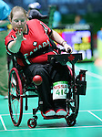 Rio de Janeiro-10/9/2016-Alison Levine competes in the mixed bocci event against Brazil at the 2016 Paralympic Games in Rio. Photo Scott Grant/Canadian Paralympic Committee