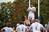 Don Armand of Exeter Chiefs wins the ball at a lineout. Aviva Premiership match, between Bath Rugby and Exeter Chiefs on October 17, 2015 at the Recreation Ground in Bath, England. Photo by: Patrick Khachfe / Onside Images