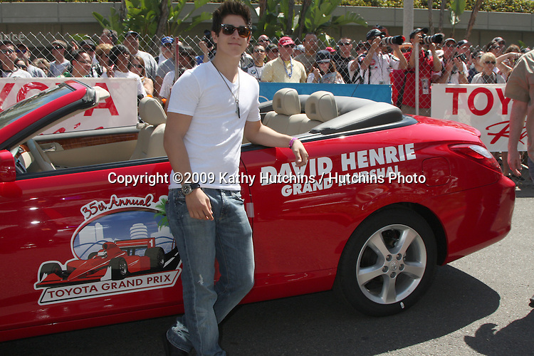 David Henrie with his Grand Marshall car  at the  Toyota Pro/Celeb Race Day on April 18 ,2009 at the Long Beach Grand Prix course in Long Beach, California..©2009 Kathy Hutchins / Hutchins Photo....                .