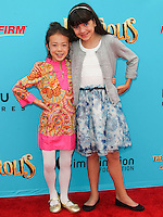 UNIVERSAL CITY, CA, USA - SEPTEMBER 21: Aubrey Anderson-Emmons, Chloe Noelle at the Los Angeles Premiere Of Focus Features' 'The Boxtrolls' held at Universal CityWalk on September 21, 2014 in Universal City, California, United States. (Photo by Celebrity Monitor)