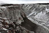 Gully erosion in pyroclastic flow deposits from Shiveluch Volcano, Kamchatka, Russia.