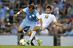 12 September 2014: North Carolina's Tyler Engel (8) and Pitt's Ryan Myers (10). The University of North Carolina Tar Heels hosted the Pittsburgh University Panthers at Fetzer Field in Chapel Hill, NC in a 2014 NCAA Division I Men's Soccer match. North Carolina won the game 3-0.