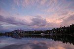 Sunset clouds above Upper Kinney Lake, Toiyabe National Forest, California