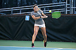 21 February 2017: ASU's Heidi Swope. The University of North Carolina Tar Heels hosted the Appalachian State University Mountaineers at the Cone-Kenfield Tennis Center in Chapel Hill, North Carolina in a Women's College Tennis match. North Carolina won the match 6-1.