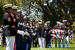 Fellow marines carry the casket of First Lt. Todd Allen Lorell, 24, of Los Altos at an Aug. 8 Memorial Service.<br />