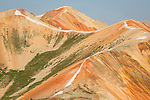 Closeup photograph of Red Mountains in southwest Colorado