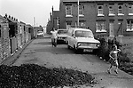 Free coal supply for mining families. South Kirkby Colliery, Yorkshire England. Coal Miners story 1979.Back to back NUM housing.Pit Club Terrace (left) and Milton Terrace to right and back. Milton Terrace is where Geoffrey Boycotte the cricketer grew u.