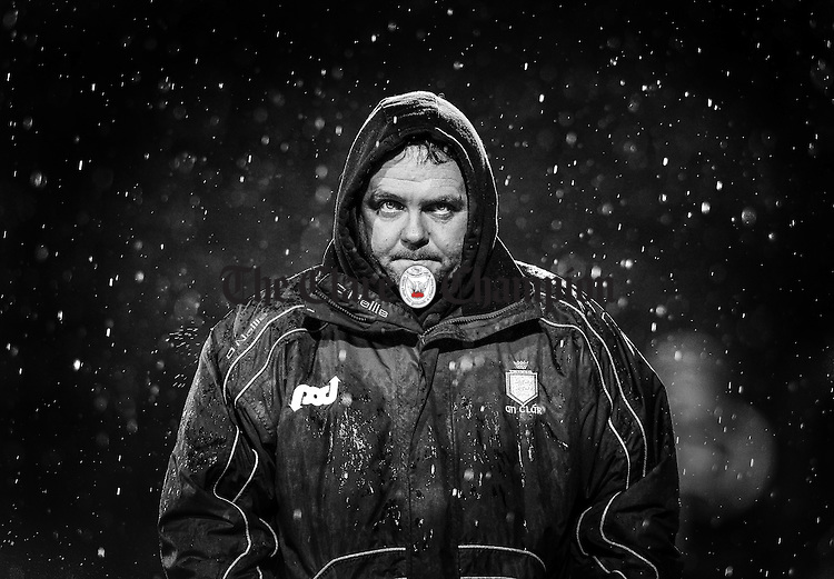 Hell On Earth...<br /> Clare manager Davy Fitzgerald heads for the dressing room after the final whistle following the loss to Tipperary in the Waterford Crystal Cup Final.