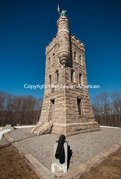 WINSTED ,  CT,  CT-041115JS65- The Soldiers' Monument and Memorial Park in Winsted, was dedicated on September 11, 1890, In honor of 300 Winchester men who served in the Civil War.<br /> Jim Shannon Republican-American