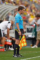 26 JUNE 2010:  Assistant referee Philippe Briere during MLS soccer game between DC United vs Columbus Crew at Crew Stadium in Columbus, Ohio on May 29, 2010. The Crew defeated DC United 2-0.