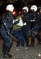 2000.09.25 : Police take Anti Worldbank and IMF protesters in the streets of Prague, Check Republic.