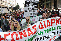 A general strike is called in Greece over austerity measures being enforced by the European Union following the ratification of the Lisbon treaty. Tens of thousands of workers, Trade Unionists,immigrants and activists take to the streets for a mass protest. There were sporadic clashes with riot Police.