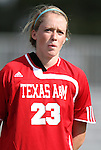 09 September 2011: Texas A&M's Renee McDermott. The Duke University Blue Devils defeated the Texas A&M Aggies 7-2 at Koskinen Stadium in Durham, North Carolina in an NCAA Division I Women's Soccer game.