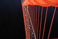 California, San Francisco, Golden Gate Bridge from South tower
