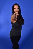 Stock photo of woman doing yoga poses