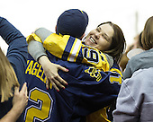 The University of Michigan ice hockey team beat No. 3 Miami University, 6-2, in the CCHA semifinals at Joe Louis Arena in Detroit, Mich., on March 23, 2013.