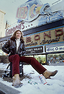New York, New York, USA, March, 1978 - Swiss singer Patrick Juvet visits New York City and Central Park.