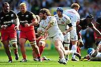 Alec Hepburn of Exeter Chiefs takes on the Saracens defence. Aviva Premiership Final, between Saracens and Exeter Chiefs on May 28, 2016 at Twickenham Stadium in London, England. Photo by: Patrick Khachfe / JMP
