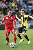 Sergio Cirio in action during the A League - Wellington Phoenix v Adelaide United at Hutt Recreational Ground, Lower Hutt, New Zealand on Saturday 7 March 2015. <br /> Photo by Masanori Udagawa. <br /> www.photowellington.photoshelter.com.