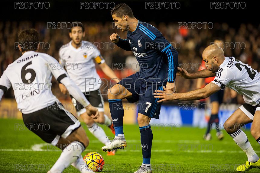 Valencia 2-2 R. Madrid (3-1-2016)