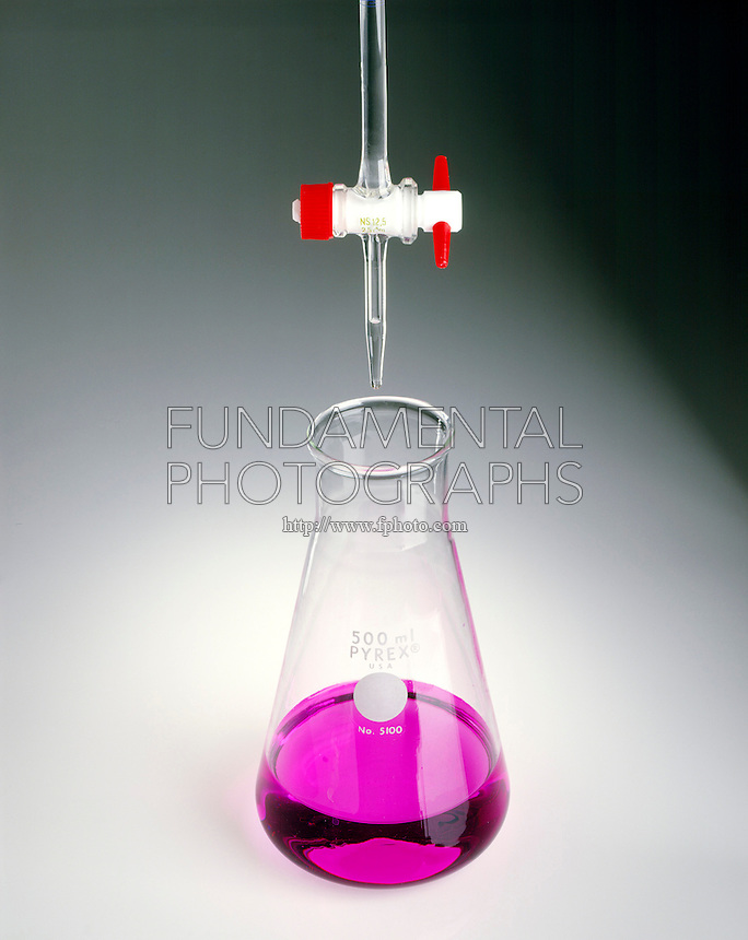 TITRATION OF A BASE WITH AN ACID<br /> (1 of 2)<br /> Phenolphthalein is Pink<br /> Phenolphthalein colors NaOH solution (pH 10) pink. HCl in buret will lower the pH.