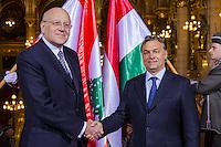 Lebanon PM Najib Azmi Mikat visits Viktor Orban
