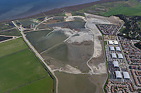 aerial photograph Hamilton Field, Novato, Marin county, California