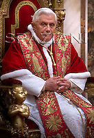 Holy See's diplomatic corps, Benedict XVI during the traditional speech at the Vatican.Jan. 8,2009