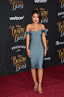 Cierra Ramirez at the premiere for Disney's &quot;Beauty and the Beast&quot; at El Capitan Theatre, Hollywood. Los Angeles, USA 02 March  2017<br /> Picture: Paul Smith/Featureflash/SilverHub 0208 004 5359 sales@silverhubmedia.com