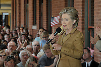 Hillary Clinton In North Carolina.2008 At A Political Rally. She Is Running For President Of The United States Of America.