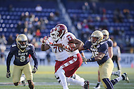 Annapolis, MD - December 3, 2016: Temple Owls wide receiver Adonis Jennings (17) tries to avoid a tackle during game between Temple and Navy at  Navy-Marine Corps Memorial Stadium in Annapolis, MD.   (Photo by Elliott Brown/Media Images International)