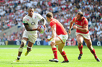 Courtney Lawes of England in possession. Old Mutual Wealth Cup International match between England and Wales on May 29, 2016 at Twickenham Stadium in London, England. Photo by: Patrick Khachfe / Onside Images