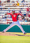 5 March 2013: Washington Nationals pitcher Rafael Soriano on the mound during a Spring Training game against the Houston Astros at Space Coast Stadium in Viera, Florida. The Nationals defeated the Astros 7-1 in Grapefruit League play. Mandatory Credit: Ed Wolfstein Photo *** RAW (NEF) Image File Available ***