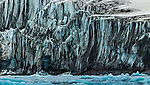 Sandy glacier edge, Svalbard, Norway
