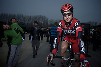 Taylor Phinney before the start.74th Gent-Wevelgem (2012).236km between Deinze & Wevelgem.winner 2012: Tom Boonen..