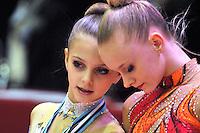 "February 7, 2014 - Tartu, Estonia - (L) ALEKSANDRA EVDOKIMOVA (2001 junior) of Russia performs at ""Miss Valentine 2014"" international tournament."
