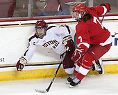Haley Skarupa (BC - 22), Lauriane Rougeau (Cornell - 7) - The Boston College Eagles defeated the visiting Cornell University Big Red 4-3 (OT) on Sunday, January 11, 2012, at Kelley Rink in Conte Forum in Chestnut Hill, Massachusetts.