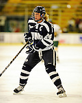 11 February 2011: University of New Hampshire Wildcat defenseman Courtney Birchard, a Senior from Mississauga, Ontario, in action against the University of Vermont Catamounts at Gutterson Fieldhouse in Burlington, Vermont. The Lady Catamounts defeated the visiting Lady Wildcats 4-2 in Hockey East play. Mandatory Credit: Ed Wolfstein Photo