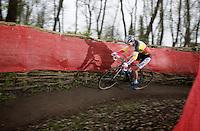 Sanne Cant (BEL/BKCP-Powerplus) leading the way<br /> <br /> Flandriencross Hamme 2014
