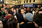 Sen. Barack Obama (D-IL) holds a campaign rally in Exeter, N.H., on Sunday, Jan. 6, 2008.